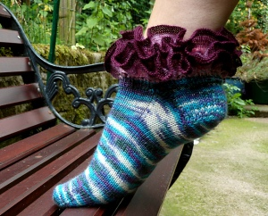 Opus 600 sock with ruffle