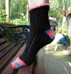 Opus 100 black lace sock