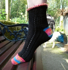 Opus 100 black lace sock