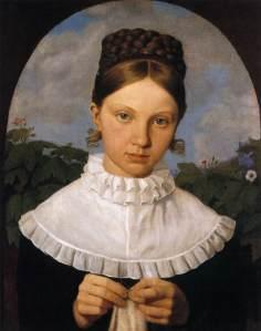 Portrait of Fanny Gail by Heinrich Maria von Hess (1820-21)