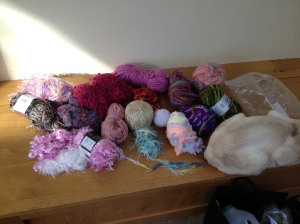 Yarn stash for sensory bands